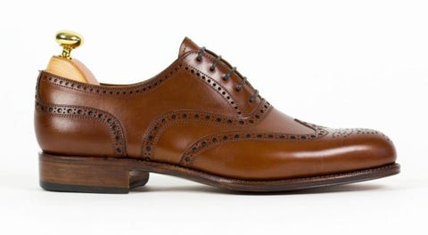 Heel Counter on the back of the men's leather dress shoe