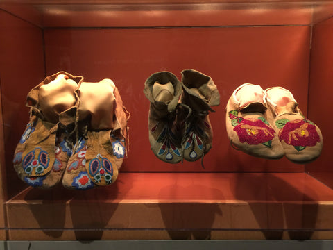 Three Pairs of Beautiful Native American Leather Moccasins