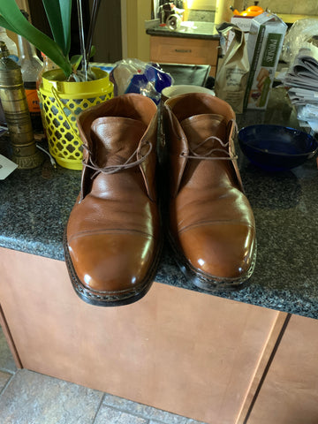 Mirror Shined Bespoke Foster & Son Tan Cap-toe Chukka Boots