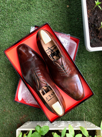 Chinese Bespoke Shoemaker Lu Yang Wholecut Oxfords by Tom Ho (@shirtingfantasy)