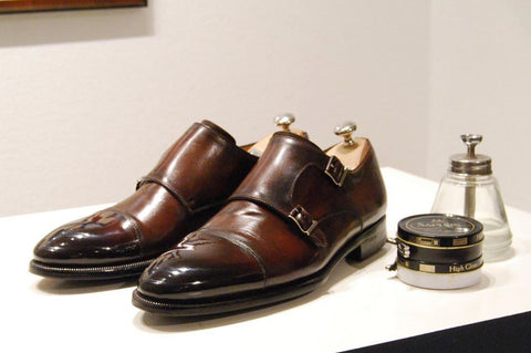 Magnanni Double Monkstrap conditioned and shined by Christian Vingsand (@cg.vingsand)