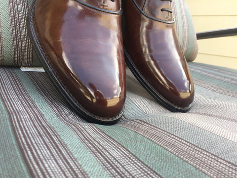 Mirror Shine using High Shine Paste Wax on leather oxfords