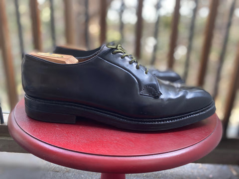 Dapper Looking Shell Cordovan PTB Vintage Bluchers Left Side