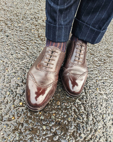High Shine Saint Crispins U-Wing Austerity Brogues