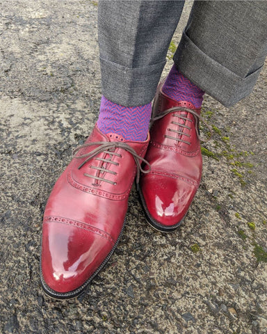 Mirror Shined with Cleaner Conditioner and High Shine Quadrifoglio Scarpe Wholecut Oxfords