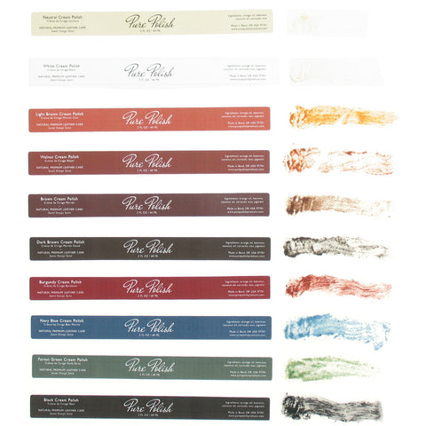 Color Chart for Pure Polish Leather Care and Shoe Polish