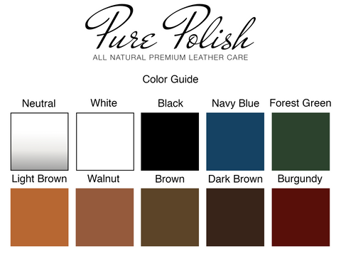 Pure Polish Products Color Guide Chart