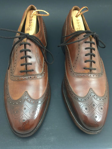 After Pure Polish Restoration - Both Shoes Top View Vintage Florsheim Imperial Wingtip Full-Brogue Oxfords