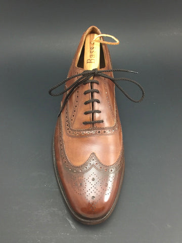 After Pure Polish Restoration - Right Shoe Top View Vintage Florsheim Imperial Wingtip Full-Brogue Oxfords