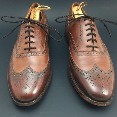 After Pure Polish Restoration - Vintage Florsheim Imperial Wingtip Full-Brogue Oxfords
