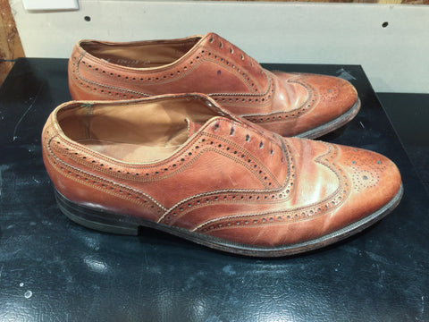 Before Picture - Right Side Profile of Vintage Florsheim Wingtip Full Brogue Oxfords