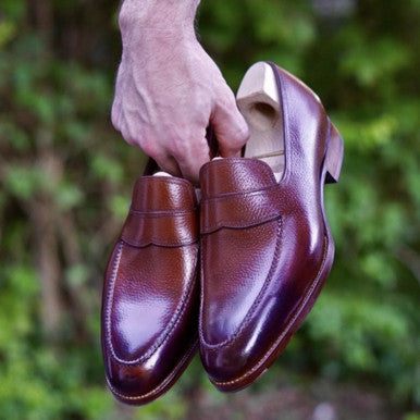 Saint Crispins Handsewn Norwegian Apron Loafers with Cleaner Conditioner