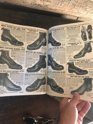 Early 1900s Sears and Roebuck Catalog Men's Shoe Section More Pages