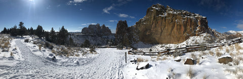 Smith Rock State Park in Winter