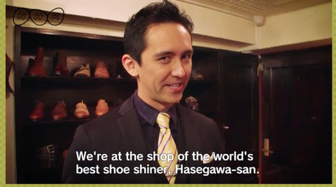 Shoe Shining with Yuya Hasegawa in Japan - World Champion of Shoe Shining