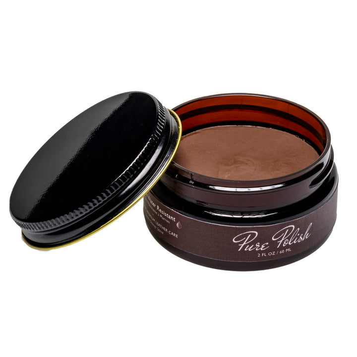 Brown Water Resistant Cream Shoe Polish by Pure Polish