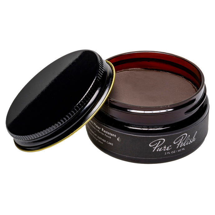 Dark Brown Water Resistant Cream Shoe Polish by Pure Polish