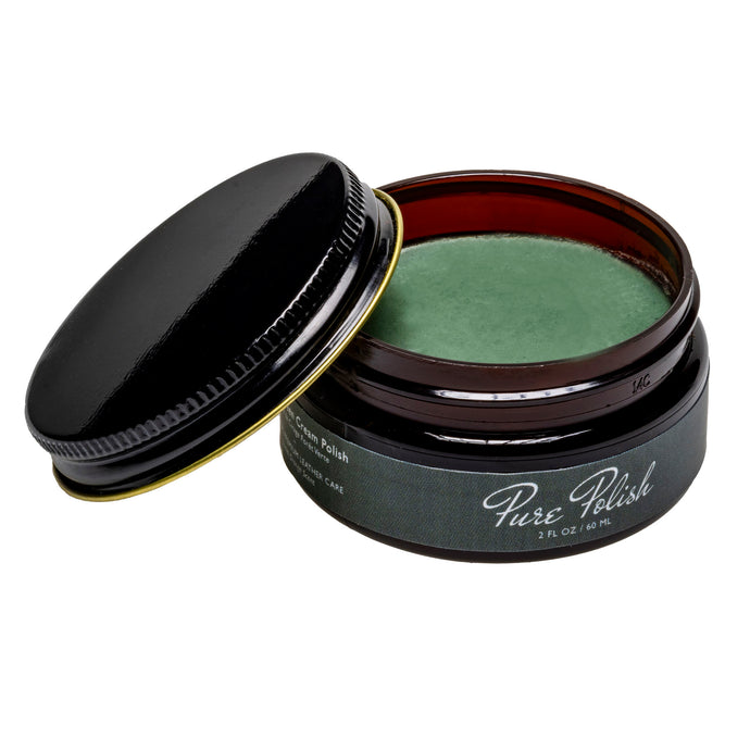 Forest Green Cream Polish Shoe Leather Polish by Pure Polish