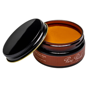 Light Brown Cream Polish Leather Shoe Polish by Pure Polish