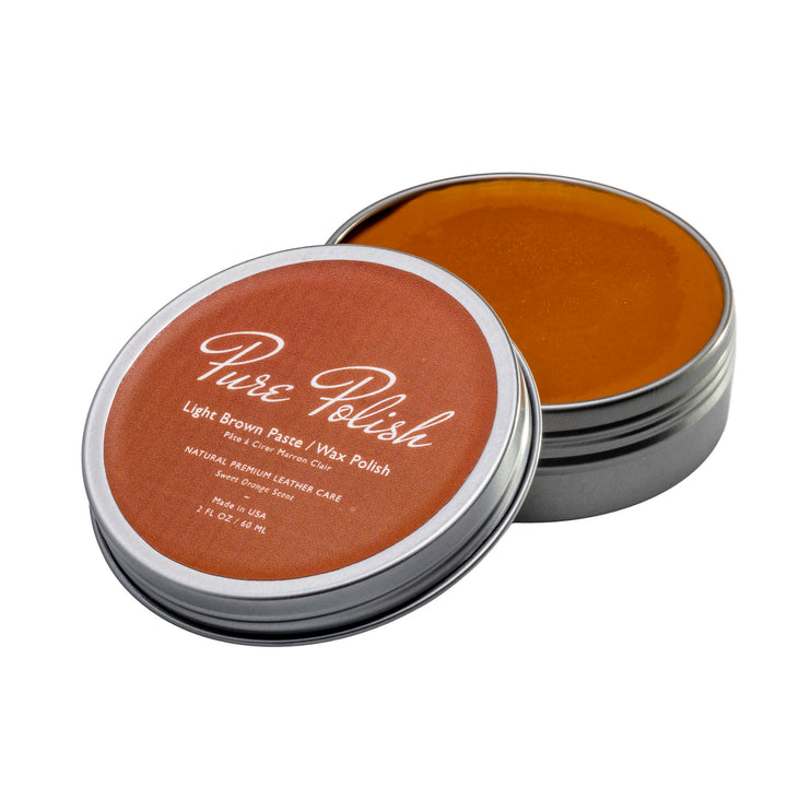 Light Brown Paste Wax Polish Leather Shoe Polish by Pure Polish