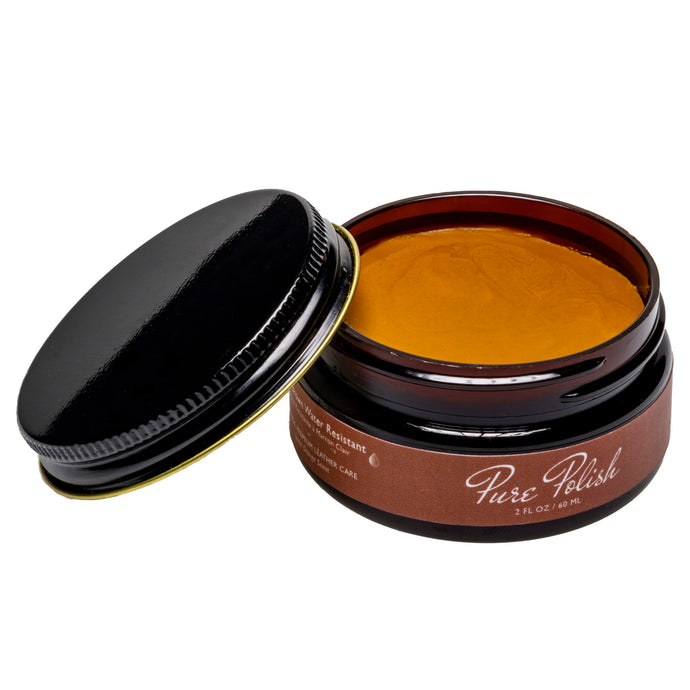 Brown Water Resistant Cream Polish Shoe Polish by Pure Polish