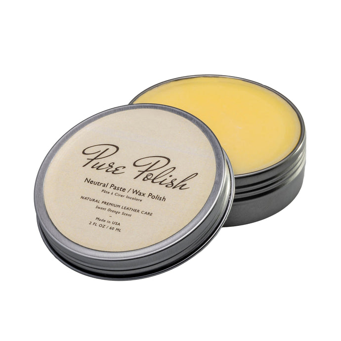 Neutral Paste Wax Polish Leather Shoe Polish by Pure Polish