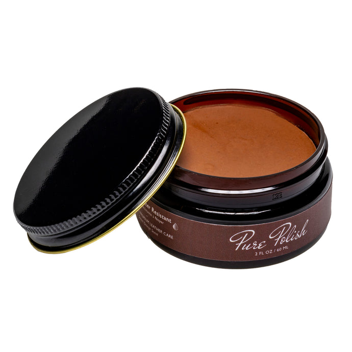 Walnut Water Resistant Cream Leather Shoe Polish by Pure Polish