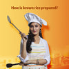 How is brown rice prepared?