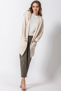 Josie Long Line Hooded Cardigan
