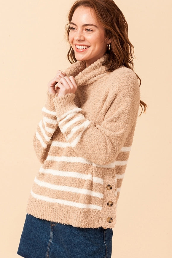 Elsie Stripe Turtleneck Sweater
