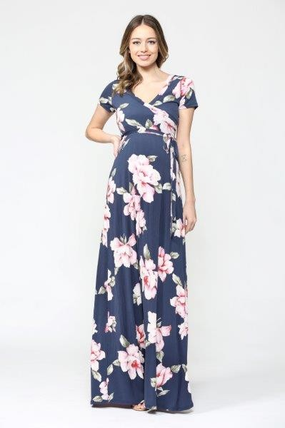 Daphne Short Sleeve Maternity Maxi