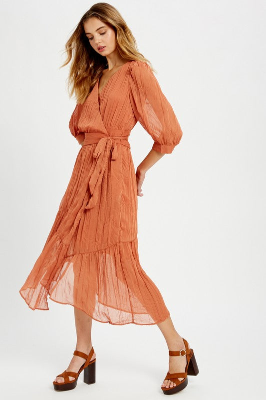 Miley Crinkle Wrap Dress