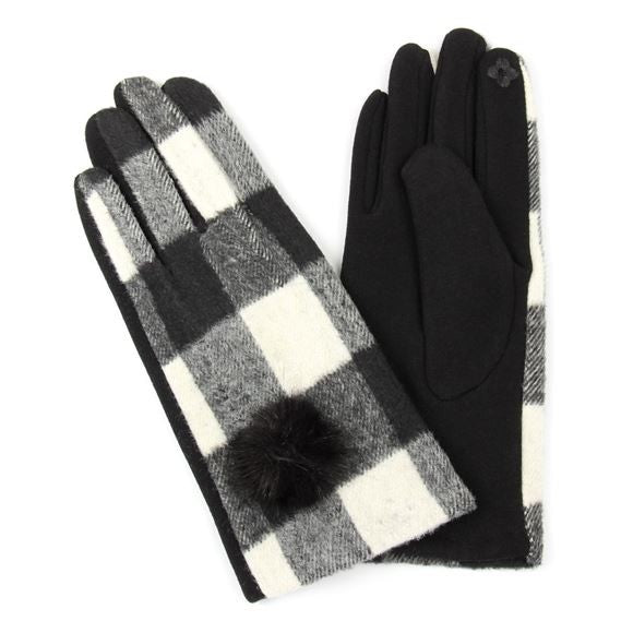 Buffalo Plaid Smart Touch Gloves - Other Colors Available