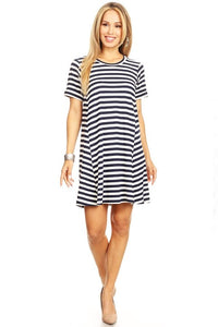 Rory Striped T Shirt Dress