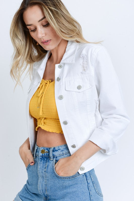 Park White Denim Jacket