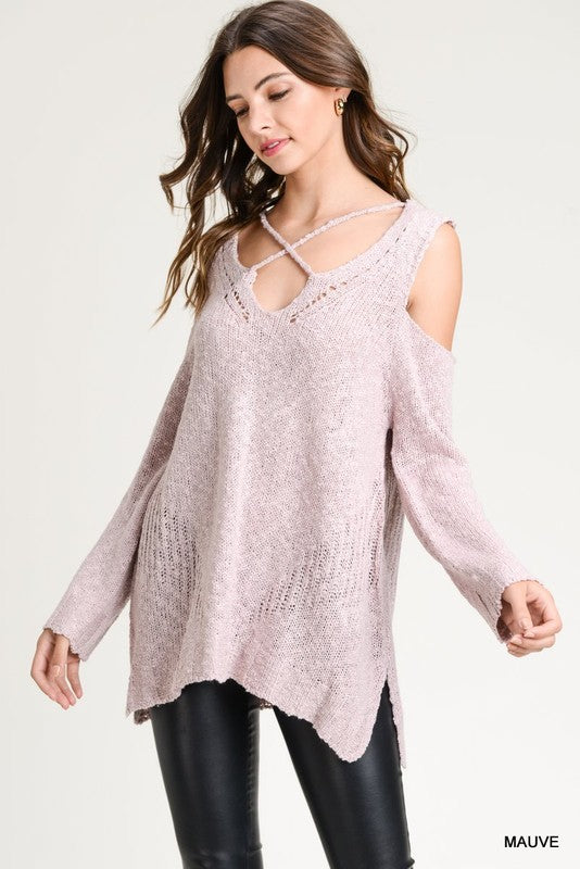 Layla Strappy Knit Sweater