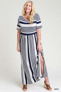 Kenzie Striped Maxi Dress - Plus Size