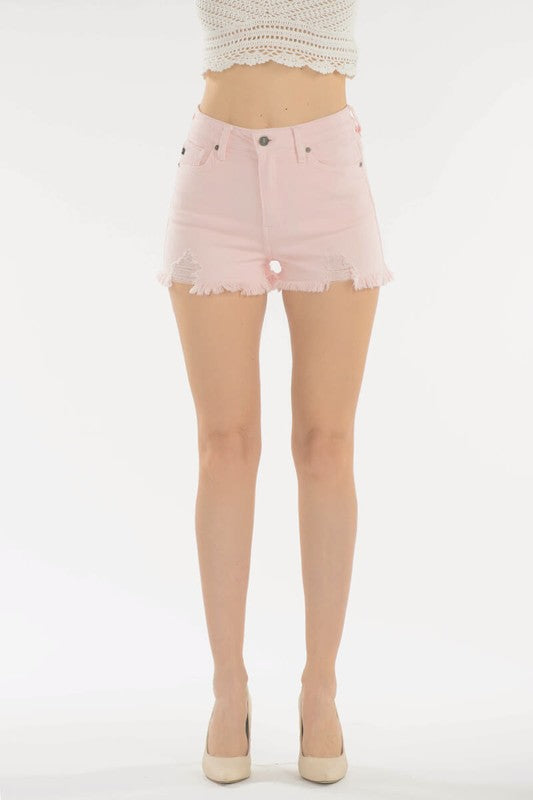 KanCan High-Rise Blush Pink Short