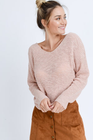 Kayla Twist Back Sweater