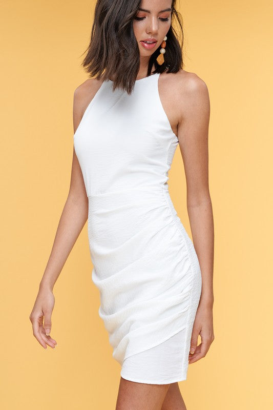 Mel Side Ruched Bodycon Dress