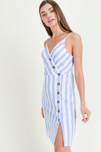 Stormy Wrap Linen Dress - Other Colors Available