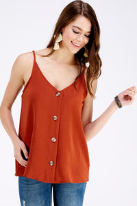 Sandy Sleeveless Button Down Top - Other Colors Available