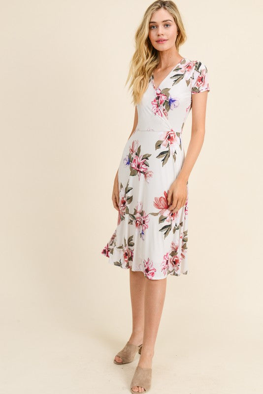 Allison Floral Print Wrap Dress - Other Colors Available