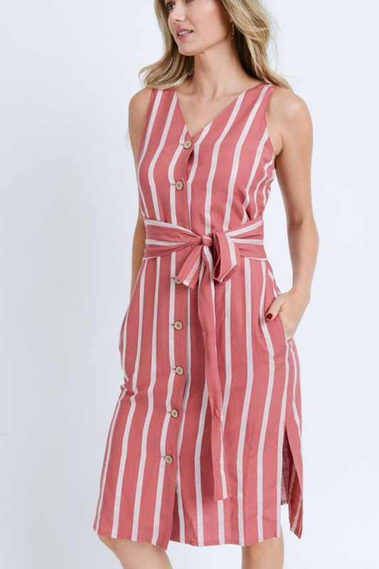 Kay Button Down Midi Dress