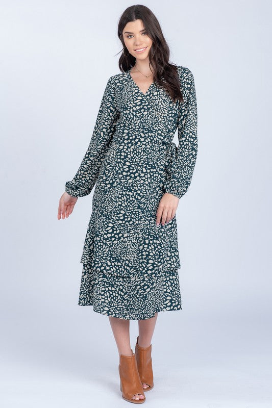 Eden Printed Long Sleeve Dress