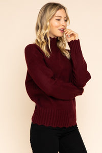Clarissa Scalloped Hem Turtleneck - Other Colors Available