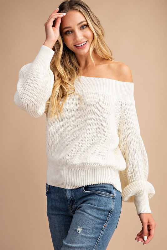 Clara Off- Shoulder Sweater