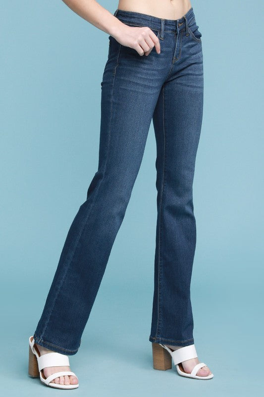 Charlie Mid Rise Bootcut Judy Blue Denim - Available in Plus Size