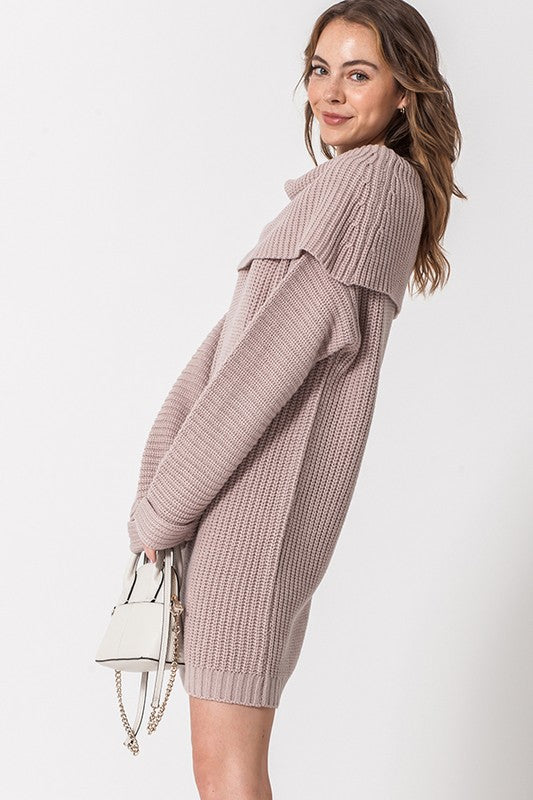 Hazel Off the Shoulder Sweater Dress
