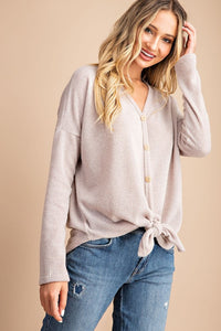 Rosa Button-Front Knit Top